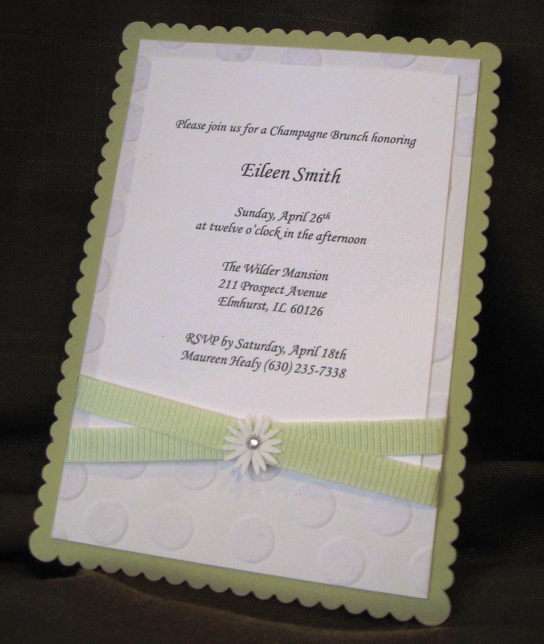 Green and White Baby Shower Invitation | McKenna Impressions