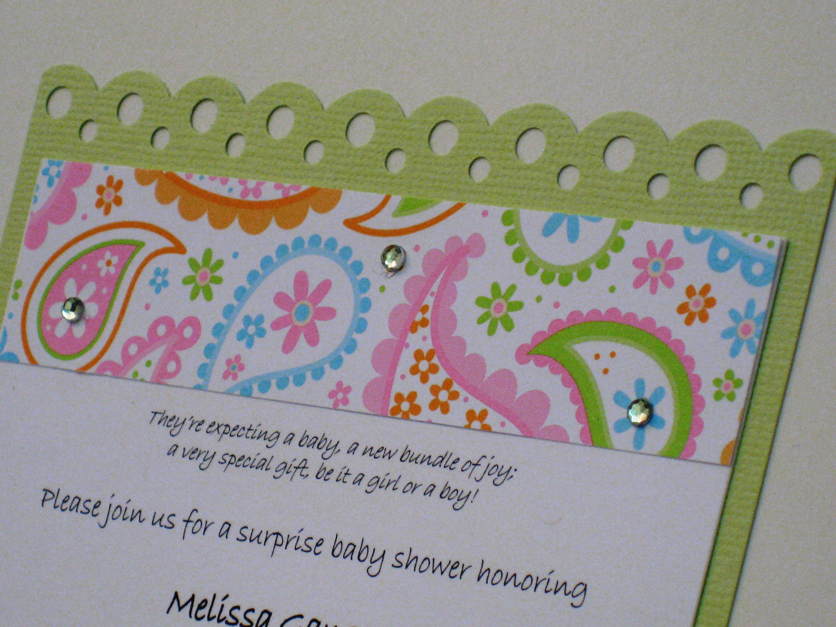 Green paisley baby shower invitation detail mckenna impressions baby shower invitations green paisley baby shower invitation detail filmwisefo