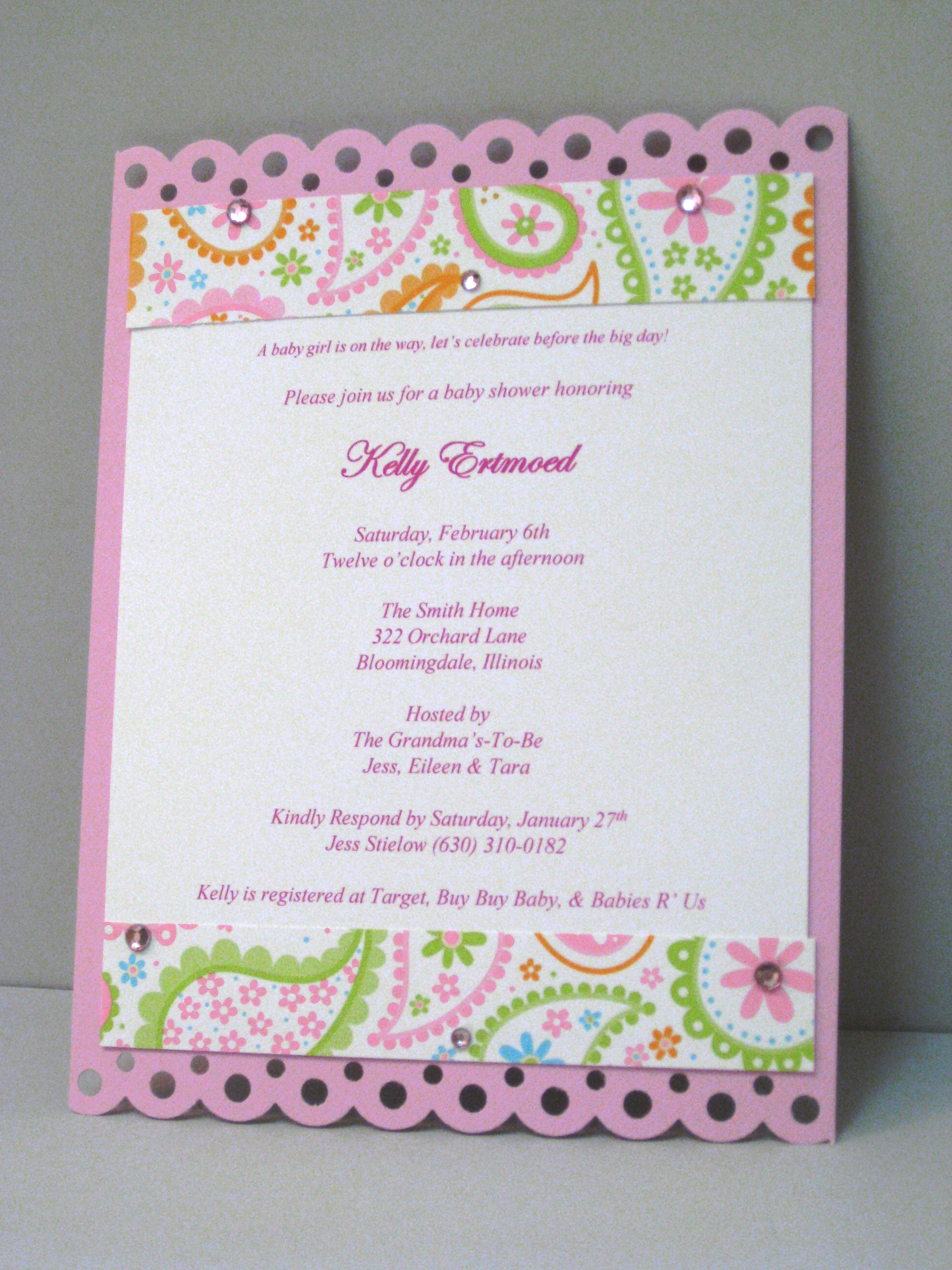 baby shower invitations pink paisley baby shower invitation
